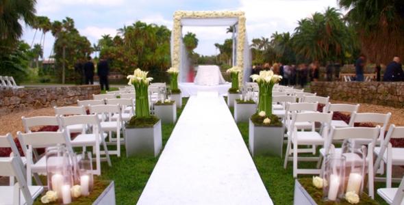Attractive Miami Beach Botanical Garden Wedding Alices